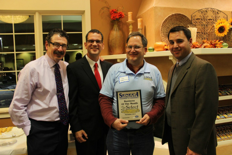 The Seneca County Chamber of Commerce has awarded Select EuroCars, Inc. of Waterloo as its November 2014 Business of the Month